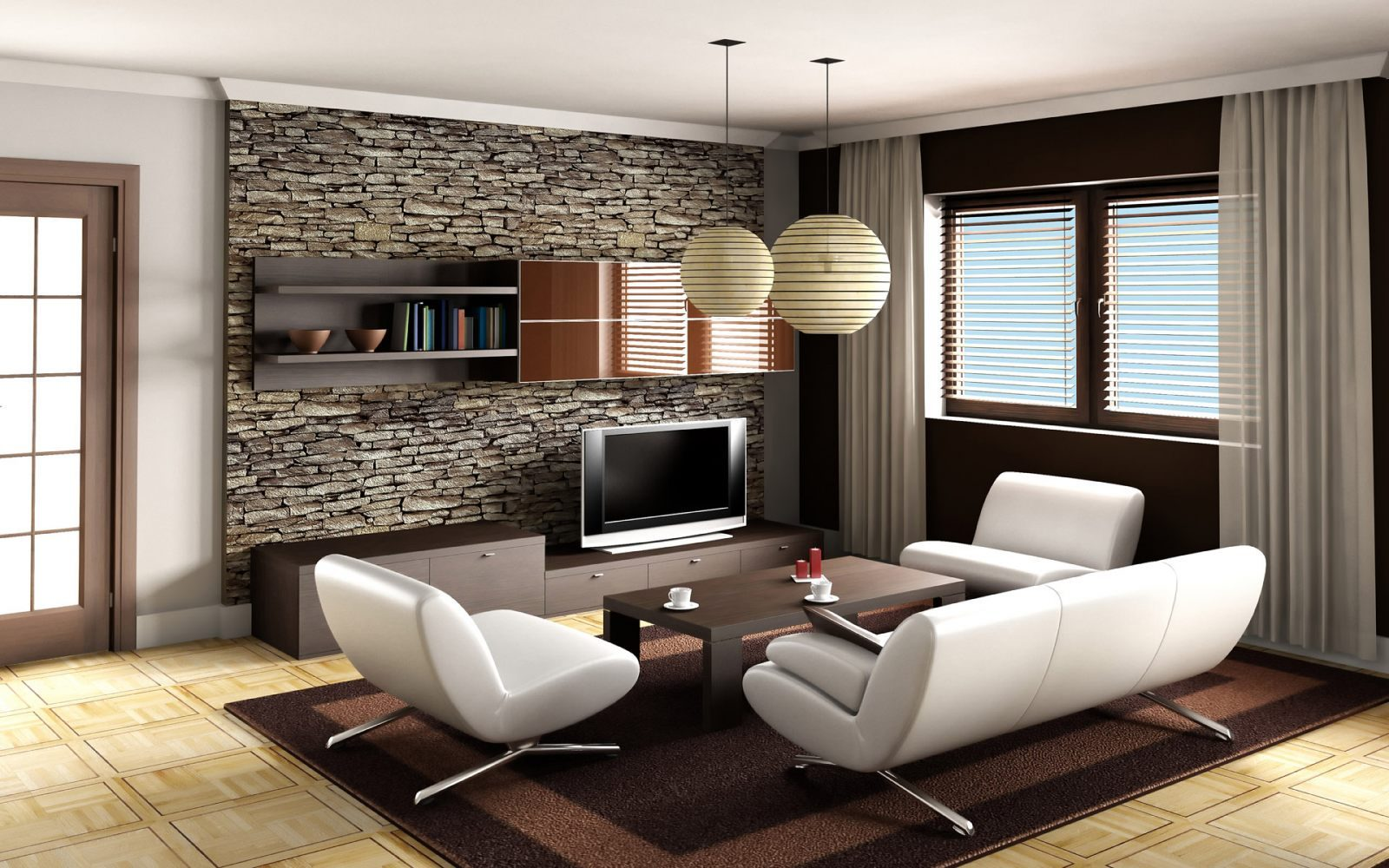Ideas para decorar un sal n moderno im genes y fotos - Colores salones modernos ...