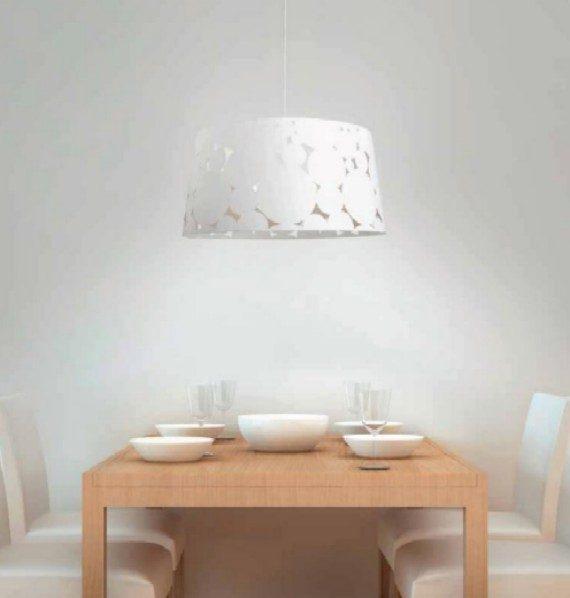 lmpara de techo moderna blanca trama