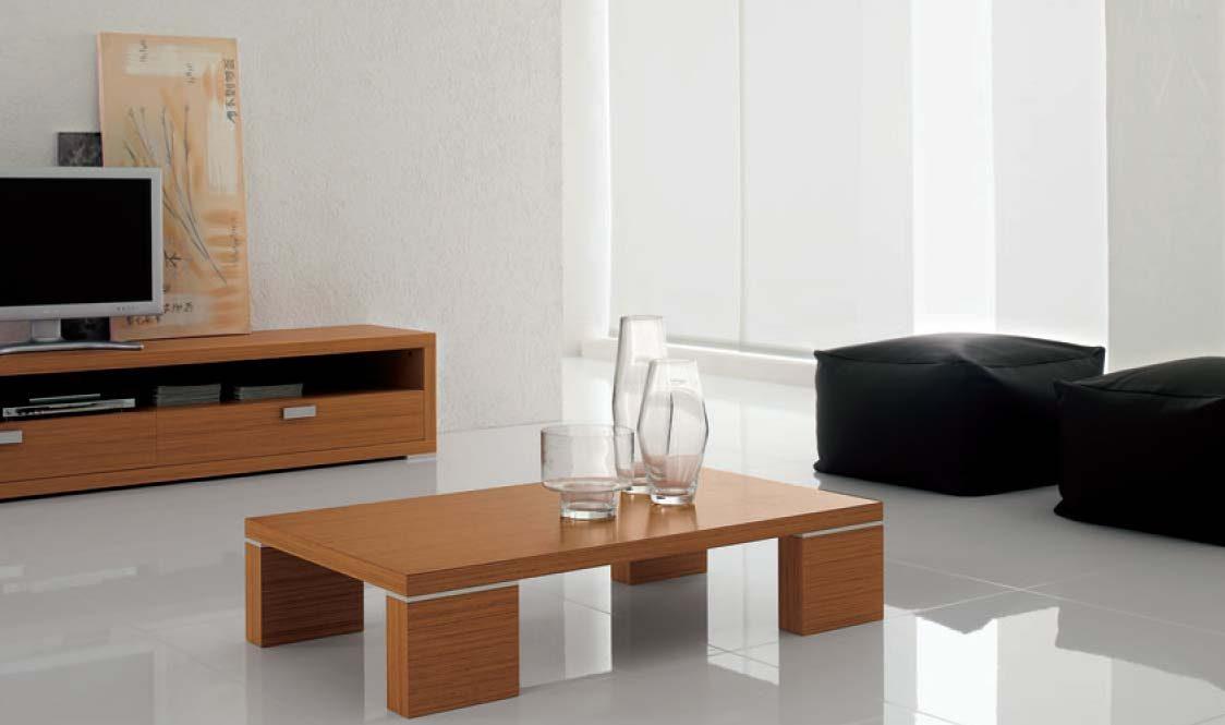 Mesa de centro de madera minimalista im genes y fotos for Mesas de centro pequenas