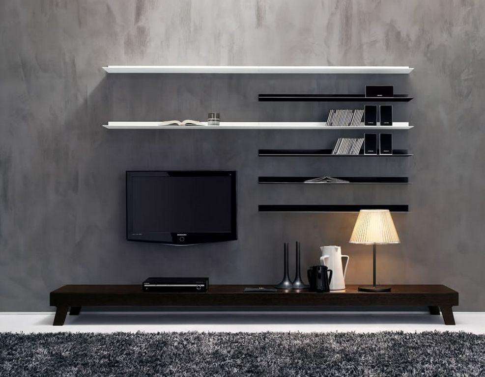 mueble de televisin y estantera moderna