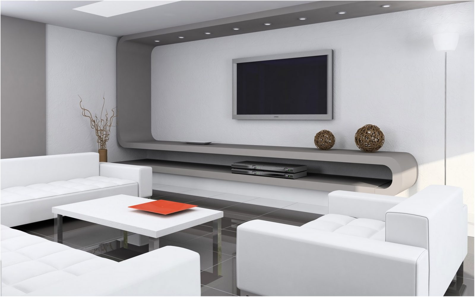 Salon Moderno De Tonos Blancos Imagenes Y Fotos - Salones-moderno
