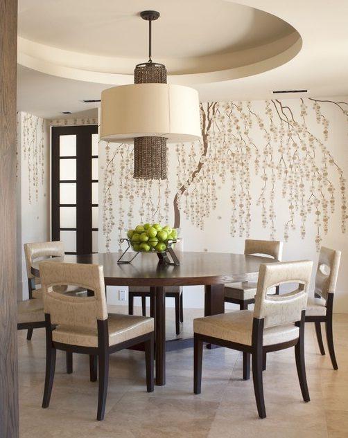 Vinilos decorativos para las paredes del sal n im genes - Figuras decorativas modernas salon ...